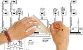 エンジニア リング建設設計 — ストック写真