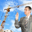 Stock Photo: Construction engineering designing