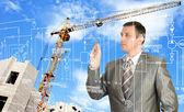 Construction engineering designing — Stock Photo