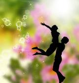 对年轻夫妇在 love.romance — 图库照片