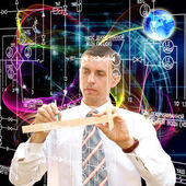 Engineering computers designing — Stock Photo
