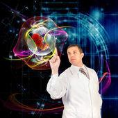 Genetische engineering.scientific innovative forschung klonen — Stockfoto