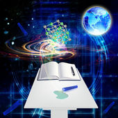 Science background.The astronomy — Stock Photo