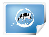 Label with a cow — Foto de Stock