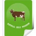 贴纸包装乳品 products.vector 牛 — 图库矢量图片