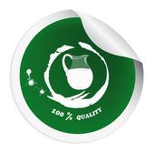 Etikett mit einer frische milch für die verpackung von milch products.vector — Stockvektor