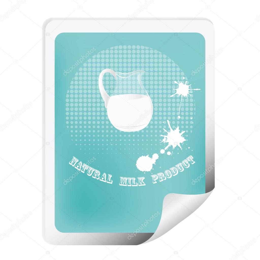 Label with a fresh milk for packaging dairy products.Vector  Stock Vector #16487861