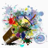 金属桶油漆 — 图库照片