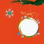 Abstract colorful christmas ball.Merry Christmas — Stock Vector