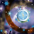 New Years clock on a abstract background — Stock fotografie
