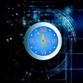 New Years clock — Stock Photo