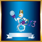 Snowman.Vector illustration eps10 — Stock Vector