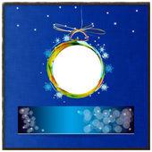 Barevné abstraktní novoroční ball.holidays karta — Stock fotografie