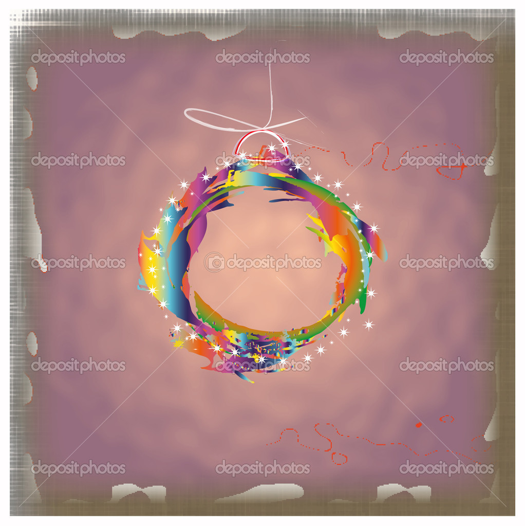 Colorful abstract new years ball.Card.Vector — Stock Vector #16934569