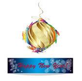 Abstrato colorido natal ball.new ano base — Vetorial Stock