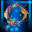 Abstract colorful background.Holiday new years card — Stock Photo