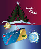 New Year banner.Sale product — Stock Vector