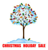 Christmas holiday sale — Stock Photo