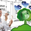 Stock Photo: Innovative designing ecological technology