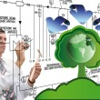 Innovative designing ecological technology - Stock Photo