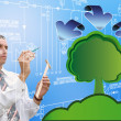 Innovative designing ecological technology — Stock Photo