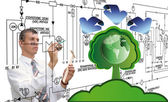 Innovative designing ecological technology — Stock Photo