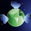 Ecology concept. Healthy green planet - Stockfoto