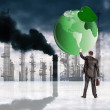 Environmental pollution toxic industrial emissions.Ecology concept - ストック写真