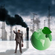 Environmental pollution toxic industrial emissions.Ecology concept - 图库照片
