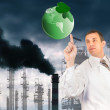 Environmental pollution toxic industrial emissions.Ecology concept - Stock Photo
