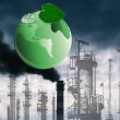Environmental pollution toxic industrial emissions.Ecology concept — Stock Photo
