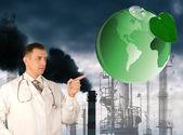 Umweltverschmutzung giftige industrielle emissions.ecology Konzept — Stockfoto