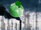 Concepto de contaminación ambiental tóxicos industriales emissions.ecology — Foto de Stock