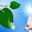 Green clean planet and healthcare.Ecology concept — Stock Photo
