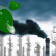 Environmental pollution toxic industrial emissions.Ecology — Stock Photo