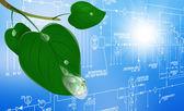 革新的なデザインの生態学的な技術 — ストック写真