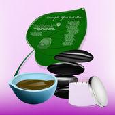 Body care.The spa procedure concept.Vector — Stock Vector