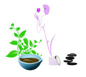 Spa concept.Body care and medicine cosmetology — Stock Photo