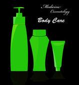 Medycyna cosmetology.body care.vector — Wektor stockowy