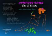 Cartão de visita para salon.vector de beleza e spa — Vetorial Stock