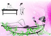 Concetto di procedura di corpo care.the spa — Foto Stock