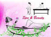 Body care.The spa procedure concept — Stock Vector