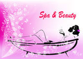 Body care.The spa procedure concept.Vector — 图库矢量图片