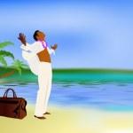 été romantique voyage sur une île tropicale exotique — Photo
