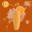 Fresh juice orange  on a abstract brown background — ストック写真