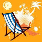熱帯 resort.abstract 黄色の背景にエキゾチックな残り — ストック写真