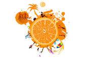 夏天异国情调 rest.abstract 橙色背景 — 图库照片