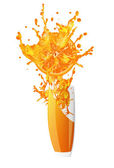 Fresh juice orange on a white background.Spray — Stock Photo