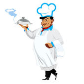 Funny Chef on a white background — Stock Photo
