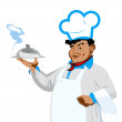Funny Chef Food for gourmet — Stock Photo